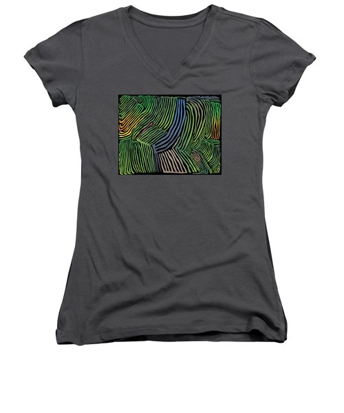 Tropical Striations Women's V-Neck