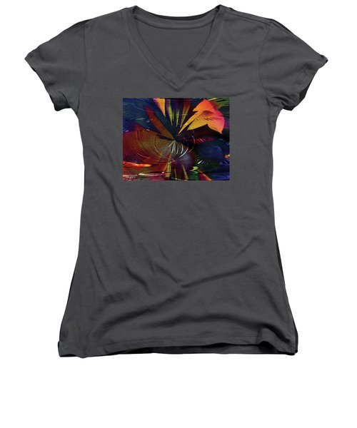 Tropicale Women's V-Neck T-Shirt (Junior Cut) by Paula Ayers