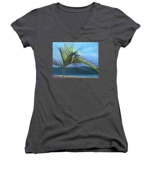 Tropicando Women's V-Neck T-Shirt (Junior Cut)