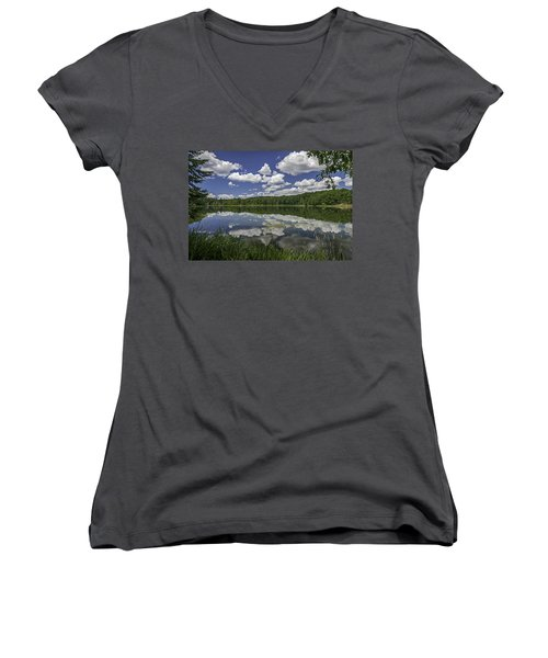 Trout Lake Women's V-Neck T-Shirt