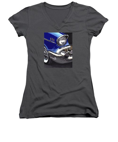 True Blue '57 Women's V-Neck (Athletic Fit)