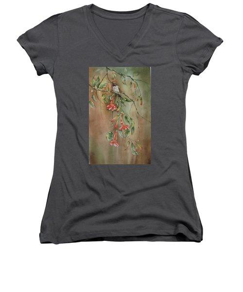 Trumpet Nectar Women's V-Neck T-Shirt