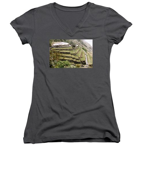 Tucked In A Mountain Women's V-Neck (Athletic Fit)