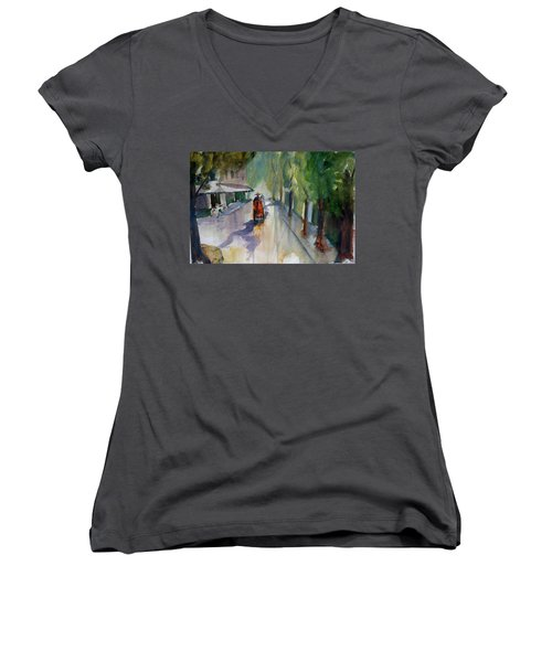 Tudo Street, Saigon 9 Women's V-Neck T-Shirt