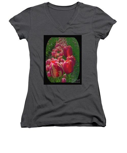 Tulip Row Women's V-Neck T-Shirt