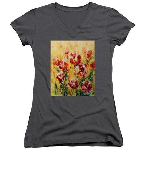 Tulip Waltz Women's V-Neck T-Shirt