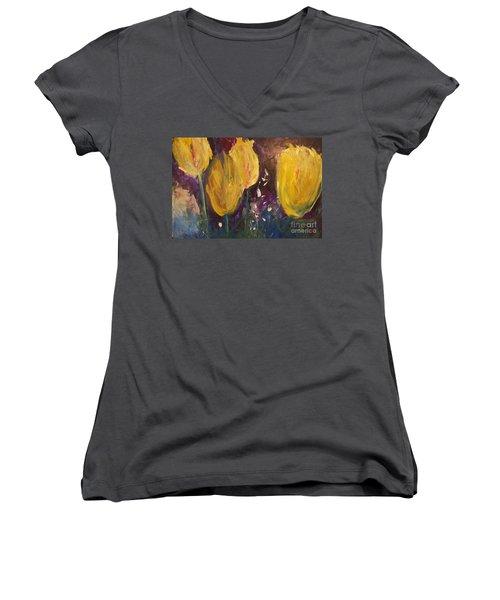Tulips Women's V-Neck T-Shirt