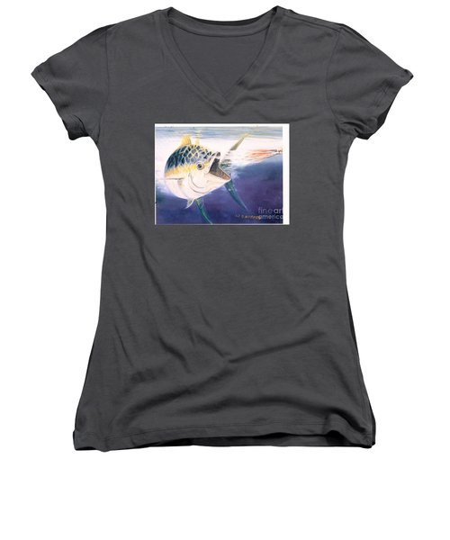 Tuna To The Lure Women's V-Neck T-Shirt
