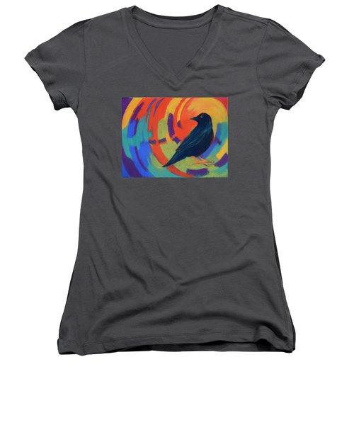 Tunnel Vision Women's V-Neck T-Shirt