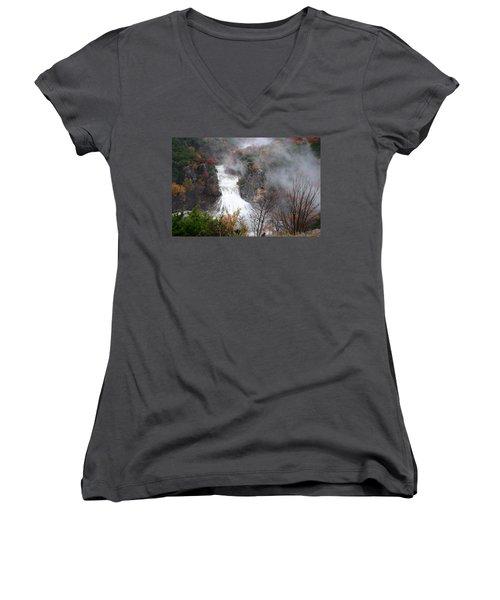 Turner Falls And Steam Women's V-Neck T-Shirt
