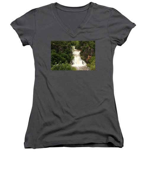 Turner Falls Waterfall Women's V-Neck