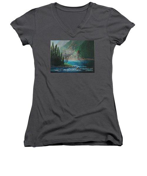 Turquoise River Women's V-Neck T-Shirt