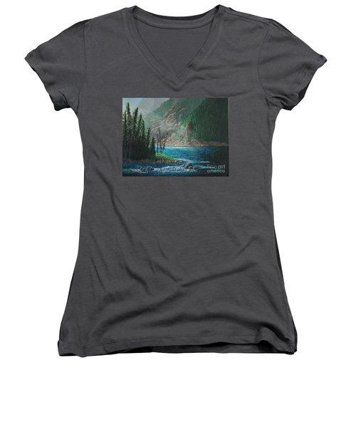 Turquoise River Women's V-Neck T-Shirt
