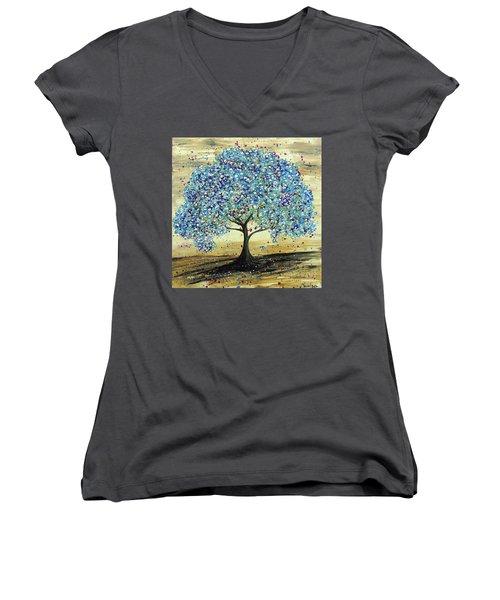 Turquoise Tree Women's V-Neck