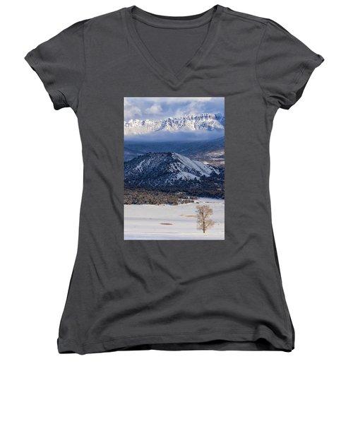 Turret Ridge In Winter Women's V-Neck