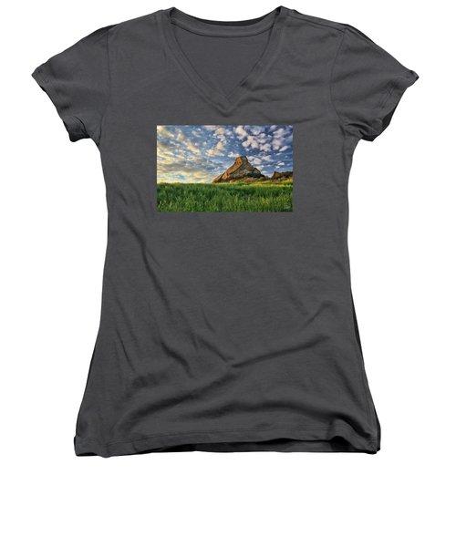 Turtle Rock At Sunset 2 Women's V-Neck T-Shirt