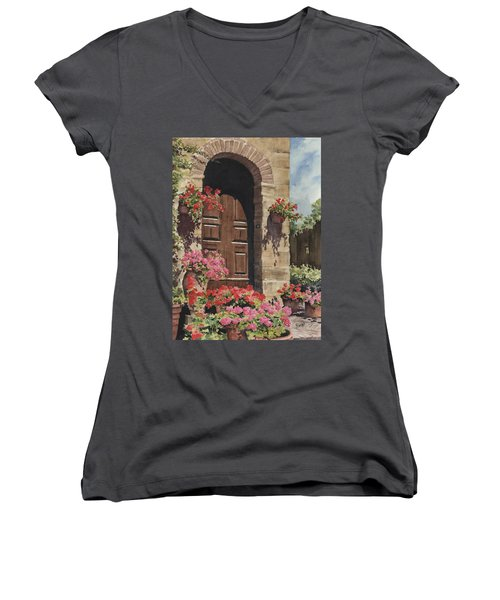 Tuscan Door Women's V-Neck (Athletic Fit)