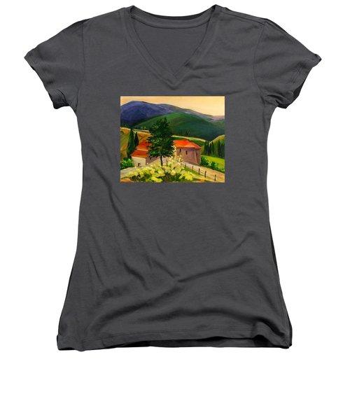 Tuscan Hills Women's V-Neck (Athletic Fit)
