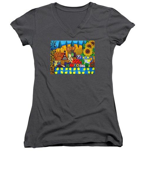 Tuscany Delights Women's V-Neck T-Shirt