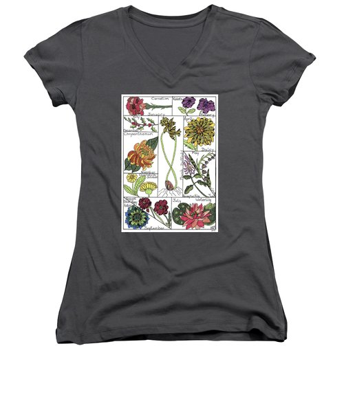 Twelve Month Flower Box Women's V-Neck (Athletic Fit)