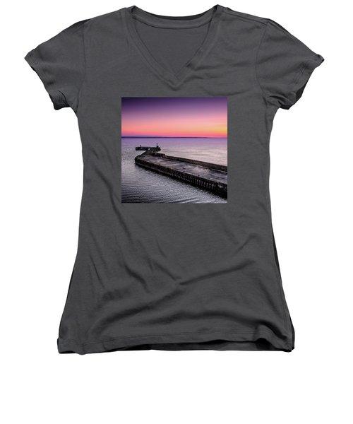 Twilight, Burghead Harbour Women's V-Neck