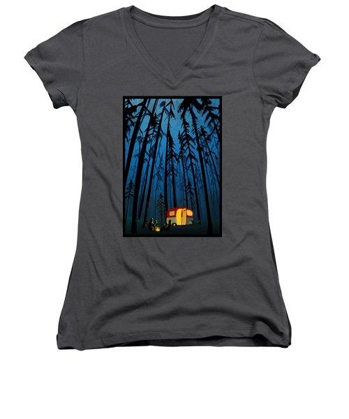 Twilight Camping Women's V-Neck