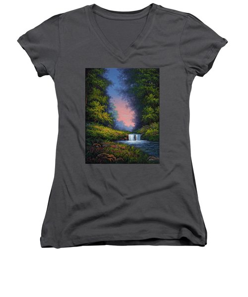 Twilight Whisper Women's V-Neck T-Shirt