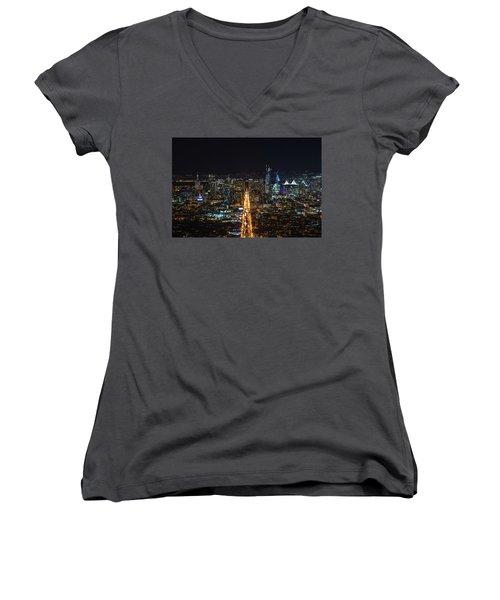 Twin Peaks Women's V-Neck T-Shirt (Junior Cut) by Alpha Wanderlust