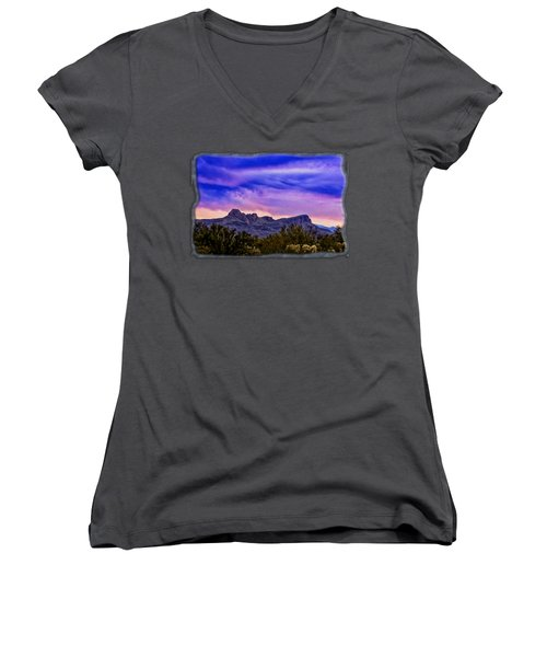 Twin Peaks H31 Women's V-Neck T-Shirt (Junior Cut) by Mark Myhaver