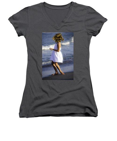 Twirling  Women's V-Neck T-Shirt