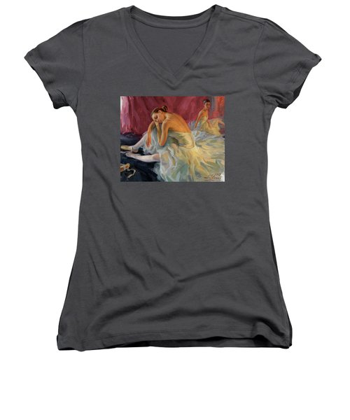 Two Dancers Women's V-Neck T-Shirt