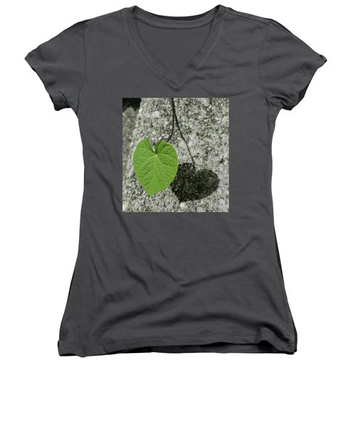 Women's V-Neck T-Shirt (Junior Cut) featuring the photograph Two Hearts Entwined by Bruce Carpenter