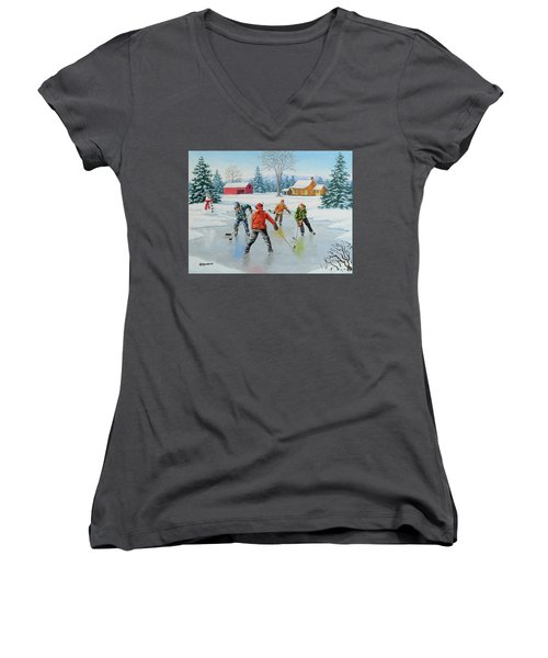 Two On One Women's V-Neck (Athletic Fit)