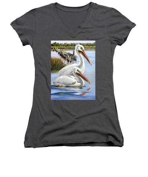 Two Part Harmony Women's V-Neck T-Shirt