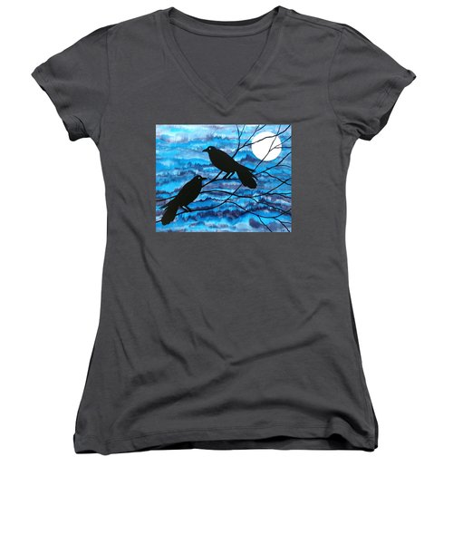 Two Ravens Women's V-Neck (Athletic Fit)