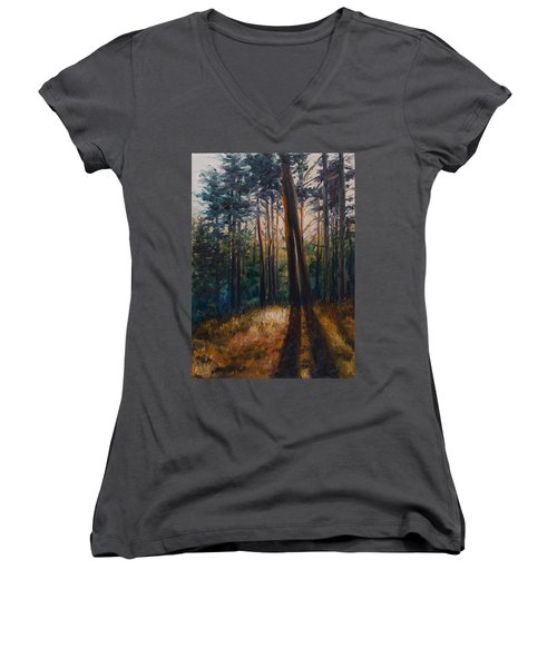 Two Trees Women's V-Neck T-Shirt