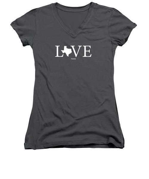 Tx Love Women's V-Neck T-Shirt (Junior Cut) by Nancy Ingersoll