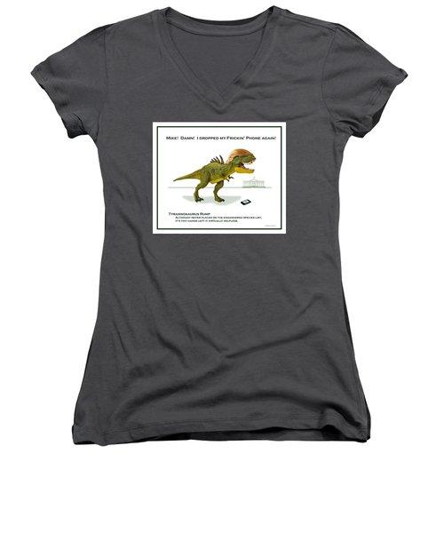 Tyrannosaurus Rump Women's V-Neck T-Shirt