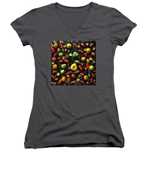 Heirloom Tomato Patterns Women's V-Neck
