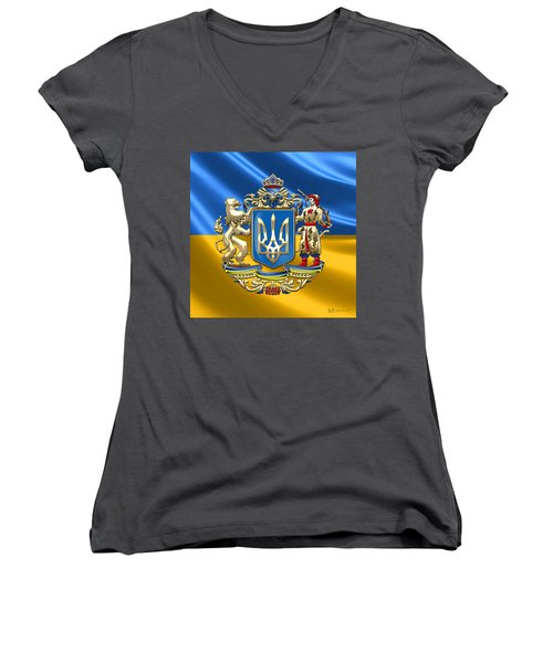 Ukraine - Greater Coat Of Arms  Women's V-Neck T-Shirt
