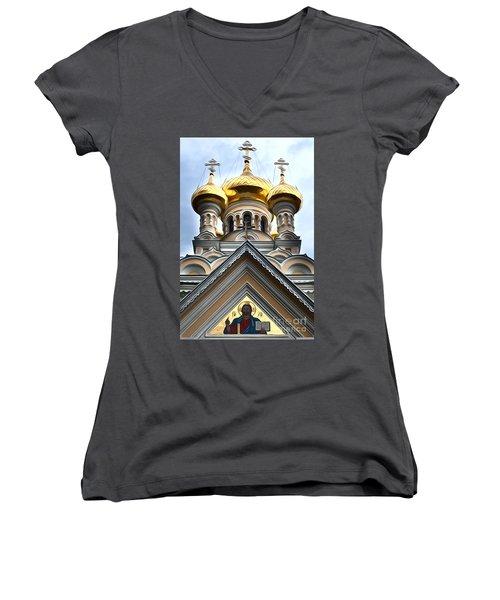 Ukrainian Church Women's V-Neck (Athletic Fit)