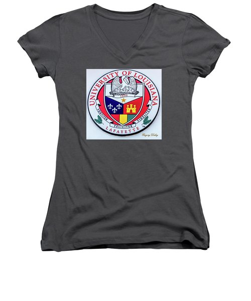 Women's V-Neck T-Shirt (Junior Cut) featuring the photograph Ul Seal by Gregory Daley  PPSA