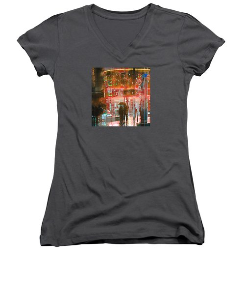 Umbrellas Are For Sharing Women's V-Neck T-Shirt