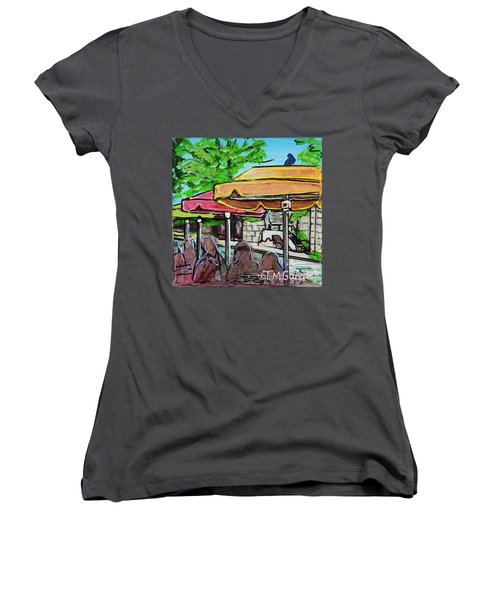 Umbrellas Women's V-Neck