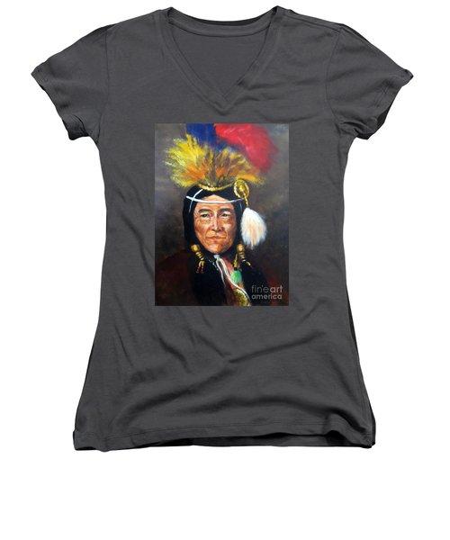 Uncle Joe Women's V-Neck T-Shirt (Junior Cut) by Lee Piper
