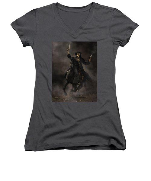 Undead Outlaw Women's V-Neck T-Shirt