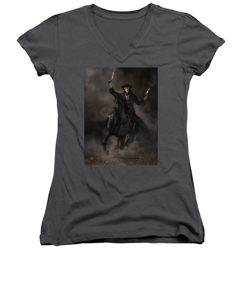 Undead Outlaw Women's V-Neck (Athletic Fit)