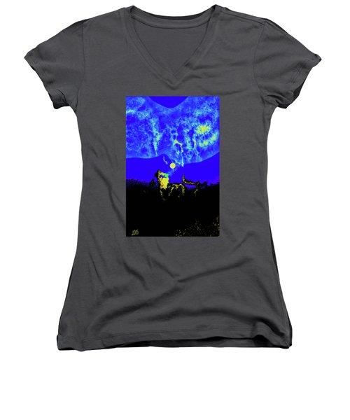 Under A Full Moon Women's V-Neck T-Shirt