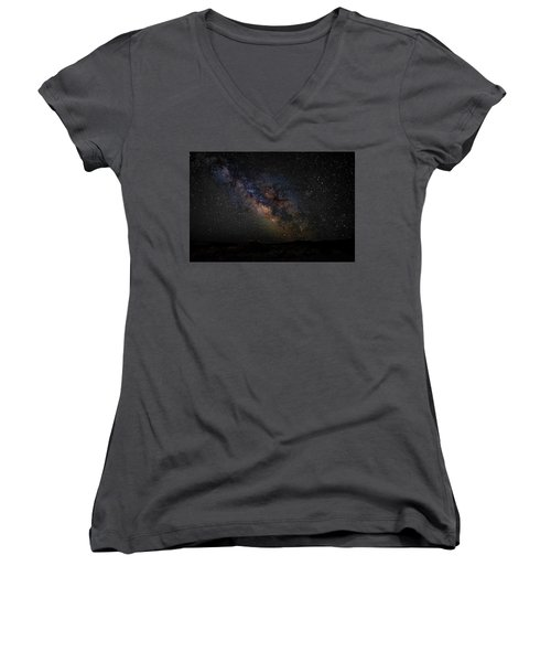 Women's V-Neck featuring the photograph Under Starry Skies by Scott Read