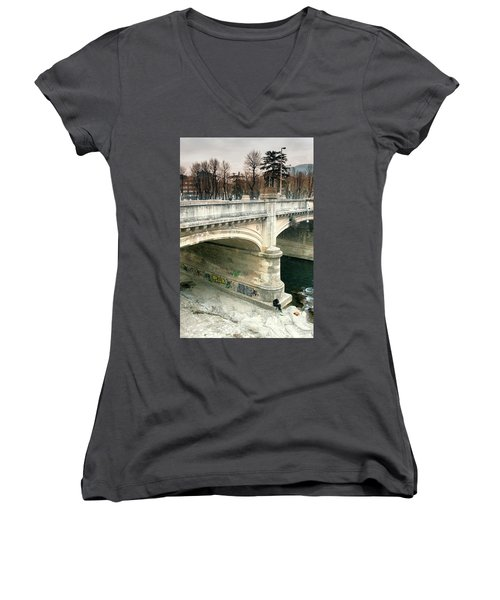Under The Bridge Women's V-Neck (Athletic Fit)